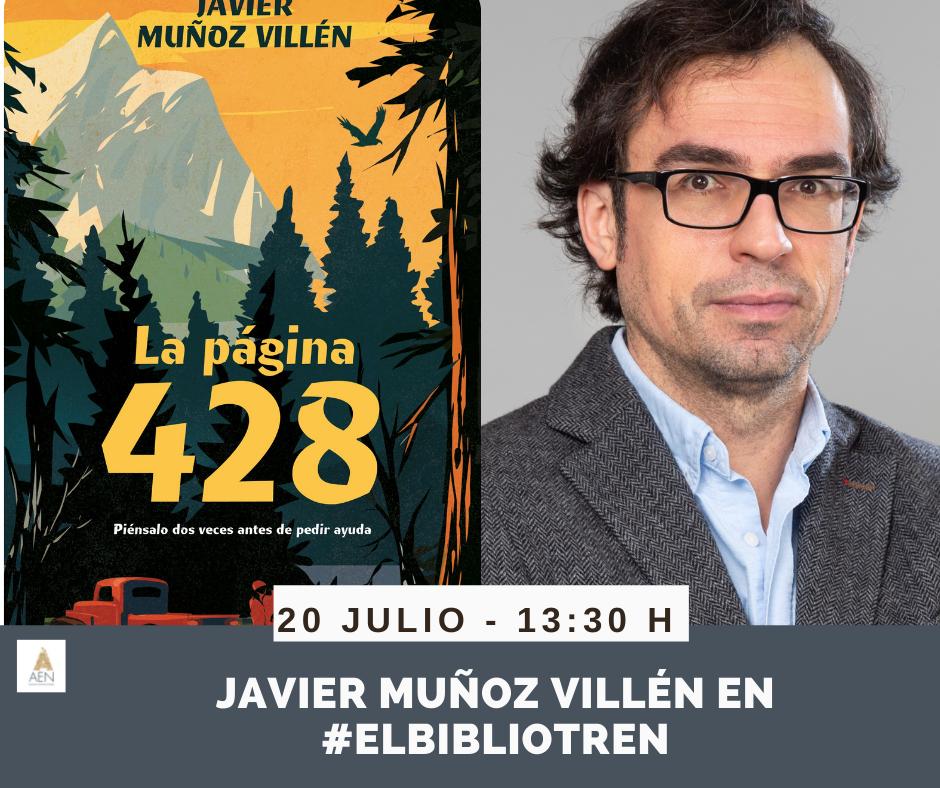 Javier Muñoz en el Bibliotren