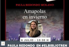 Paula Redondo en el Bibliotren