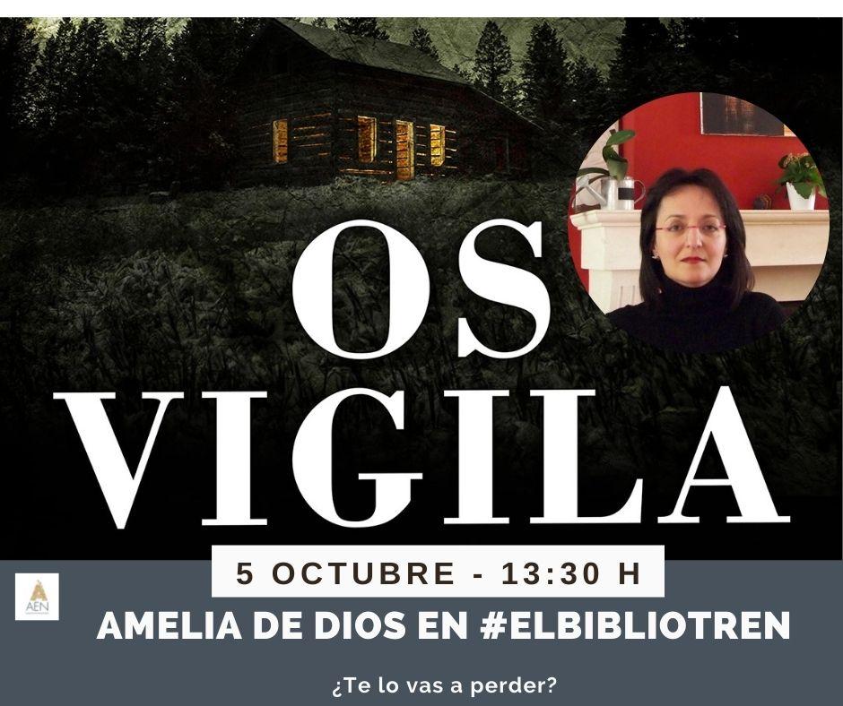 Amelia de Dios en el Bibliotren