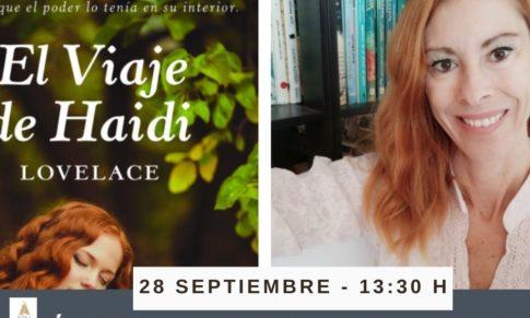 Ángela Landete Arnal en el Bibliotren