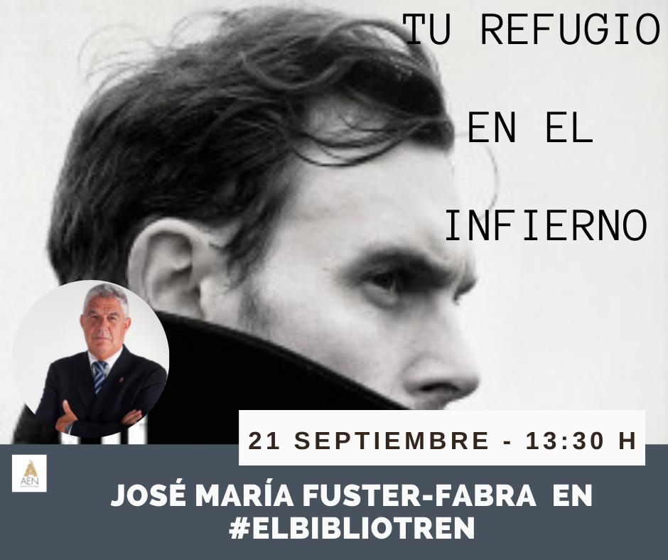 Jose María Fuster-Fabra en el Bibliotren