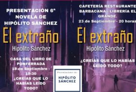 Hipólito Sánchez presenta «El extraño» en Ponferrada y en Ávila